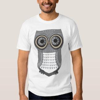 Eulen-T - Shirt-Grau Shirt