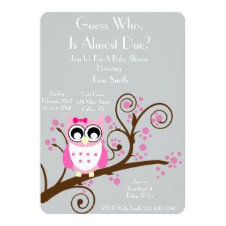Eulen-Thema-Babyparty Einladungskarten