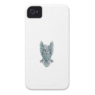 Eulen-übersetzt Swooping Flügel-Uhr Tätowierung iPhone 4 Hülle