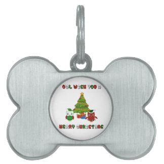 Eulen-Wunsch Sie frohen Weihnacht-Feriengeschenke Tiermarke