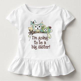 Eulen-zukünftige große Schwester Kleinkind T-shirt