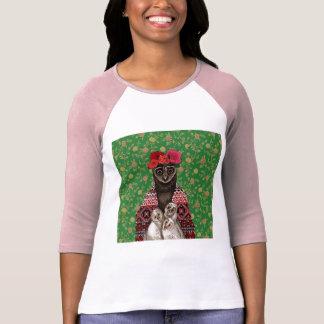 Eulenmutterdreiergruppe-Eulenbabys T-Shirt