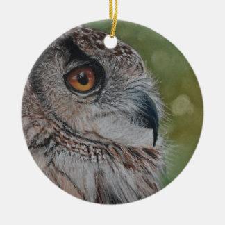 Eulenverzierung Keramik Ornament