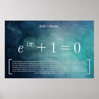 Eulers Identität - Mathe-Plakat Poster