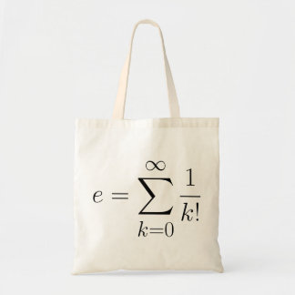 Eulers Zahl-Reihe Budget Stoffbeutel