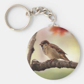Eurasischer Baum-Spatz Keychain Schlüsselanhänger