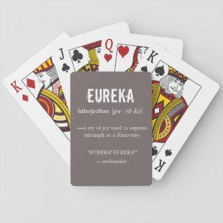 Eureka-Definitions-Archimedes-Prinzip-Wissenschaft Spielkarten