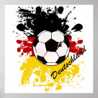 Euro 2012 - Europäischer Cup-Deutschland-Flaggenfu Plakate