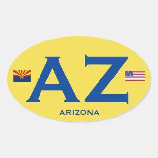 Euro-Ähnlicher (AZ) ovaler Aufkleber Arizonas