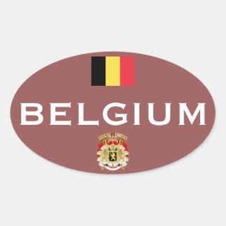 Euro-Ähnlicher ovaler Aufkleber Belgiens