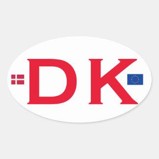 Euro-ähnlicher ovaler Aufkleber Dänemarks DK