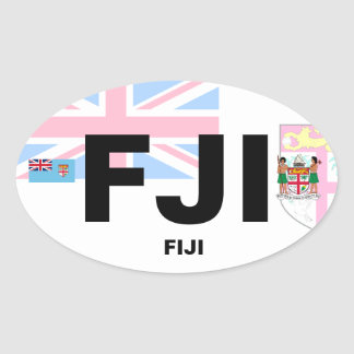 Euro-Ähnlicher ovaler Aufkleber Fidschis (FJI)