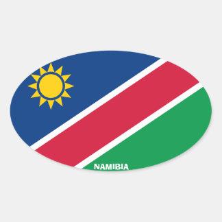 Euro-Ähnlicher ovaler Aufkleber Namibias