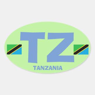 Euro-ähnlicher ovaler Aufkleber Tansanias TZ