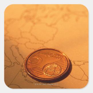 Euro Quadratischer Aufkleber