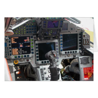 Eurofighter Flugzeug-Cockpit Karte