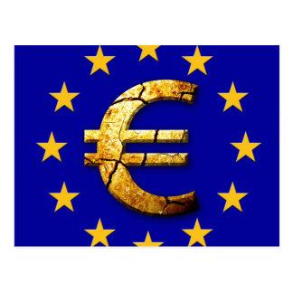 Euroflagge Postkarte