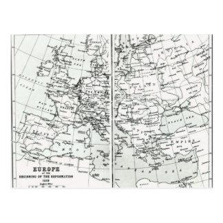 Europa, am Anfang der Verbesserung Postkarte