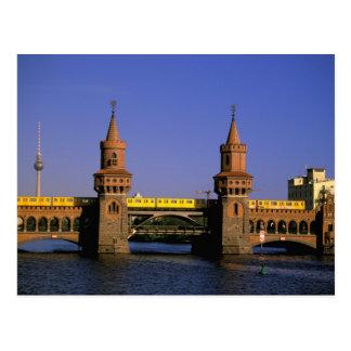 Europa, Deutschland, Berlin. Kreuzberg, Oberbaum Postkarte