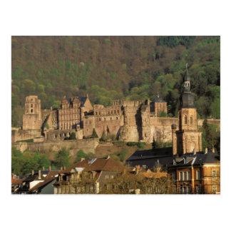 Europa, Deutschland, Heidelberg. Schloss Postkarte
