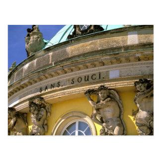 Europa, Deutschland, Potsdam. Park Sanssouci, Postkarte