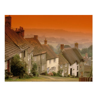 Europa, England, Dorset, Shaftesbury. Goldhügel Postkarte