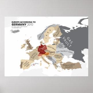 Europa entsprechend Deutschland Poster