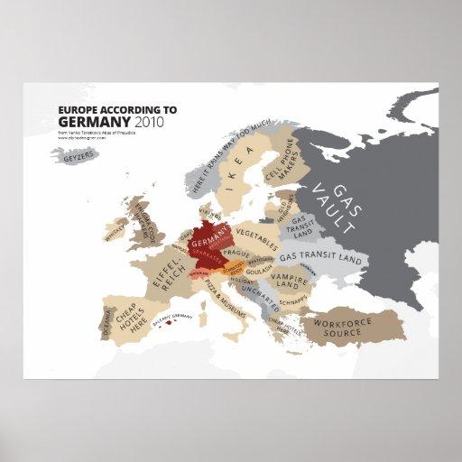 Europa entsprechend Deutschland Posterdrucke