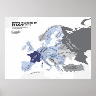 Europa entsprechend Frankreich Poster