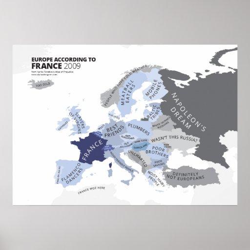 Europa entsprechend Frankreich Posterdrucke
