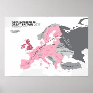Europa entsprechend Großbritannien Poster