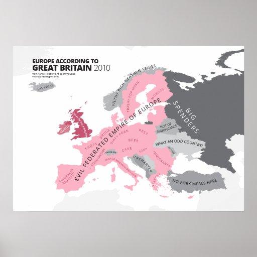Europa entsprechend Großbritannien Plakatdrucke