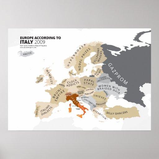 Europa entsprechend Italien Plakate