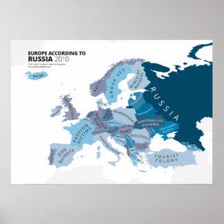 Europa entsprechend Russland Poster