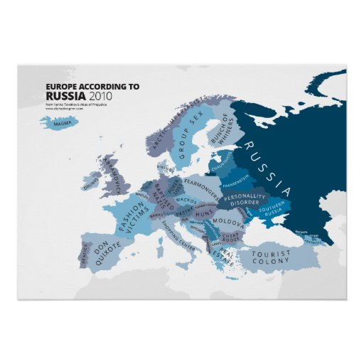 Europa entsprechend Russland Plakate