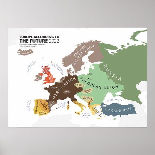Europa entsprechend zukünftigen 2022 plakate