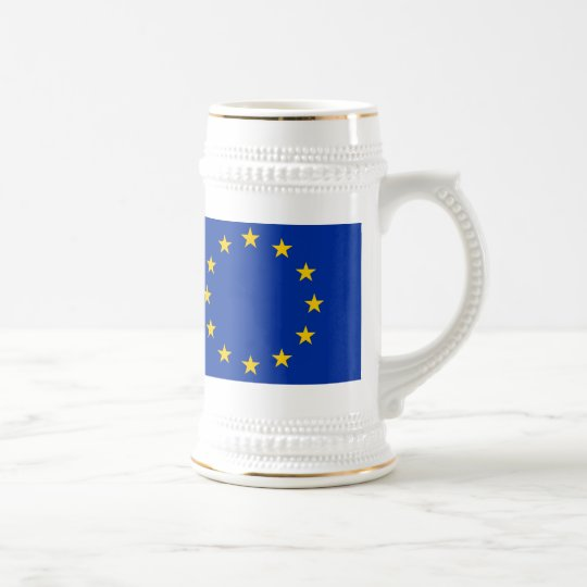 Europa Fahne Bierglas