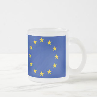 Europa Fahne Mattglastasse