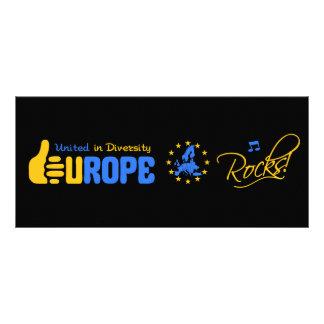 Europa-Felsen! Gestellkarte Werbekarte