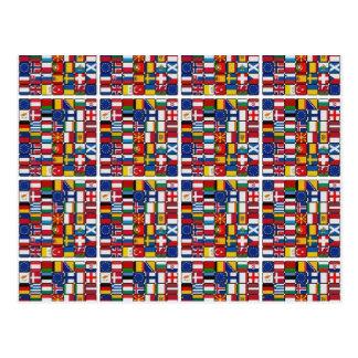 Europa-Flaggen Postkarte