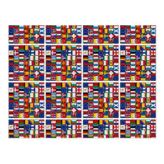Europa-Flaggen Postkarten