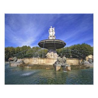 Europa, Frankreich, Aix-en-Provence. Fontaine De Fotografie