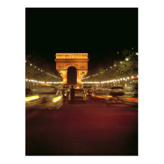 Europa, Frankreich, Paris. Abendsverkehrseilen Postkarte