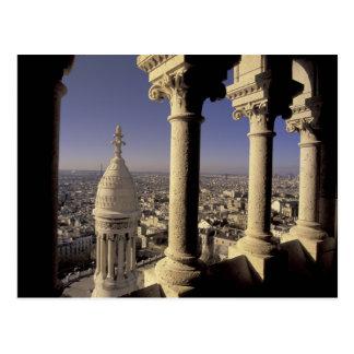 Europa, Frankreich, Paris, Ansicht von Paris durch Postkarte