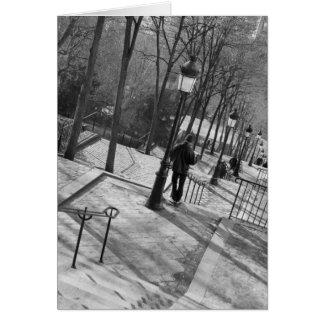 Europa, Frankreich, Paris, Montmartre: Morgen an Karte