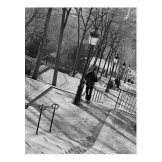Europa, Frankreich, Paris, Montmartre: Morgen an Postkarte