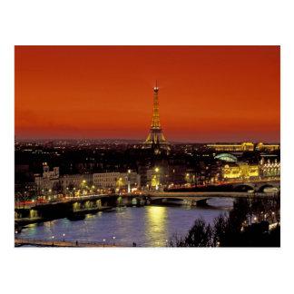 Europa, Frankreich, Paris. Sonnenuntergangansicht Postkarte