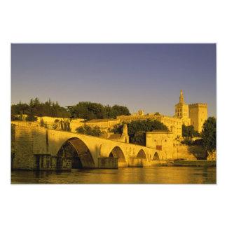 Europa, Frankreich, Provence, Avignon. Pont St., 2 Photo Druck