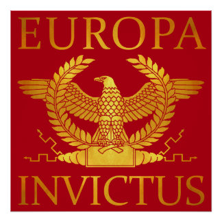 Europa Invictus - Gold auf Rot Poster