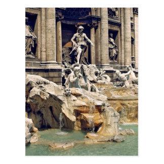Europa, Italien, Rom. Münzen verunreinigen die Postkarte